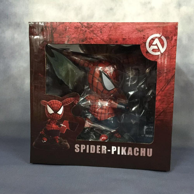 pokemon pikachu spiderman figure toy in box