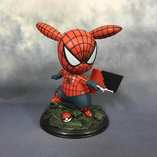 pokemon pikachu spiderman figure toy