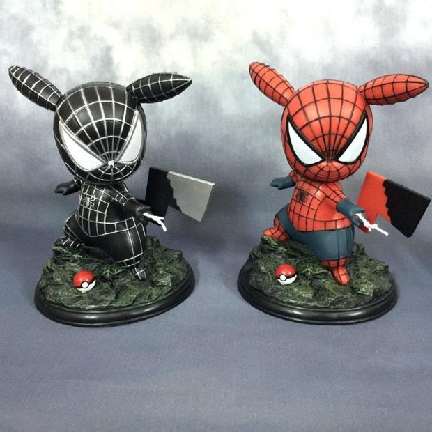 pokemon pikachu spiderman and venom spider figure toys