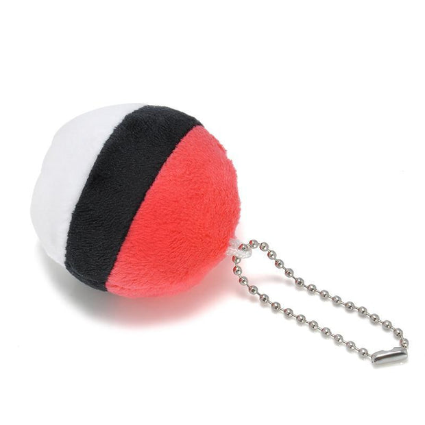 pokemon pokeball plush keychain facing down
