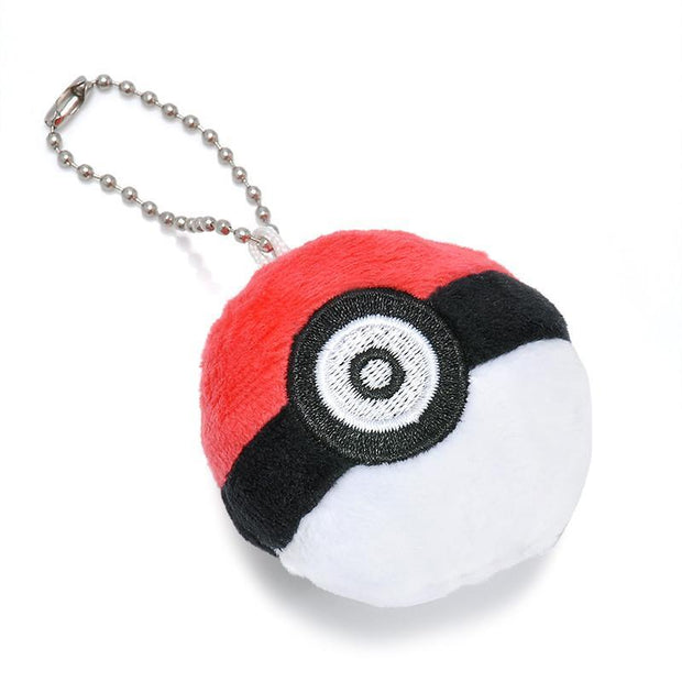 pokemon pokeball plush keychain facing up