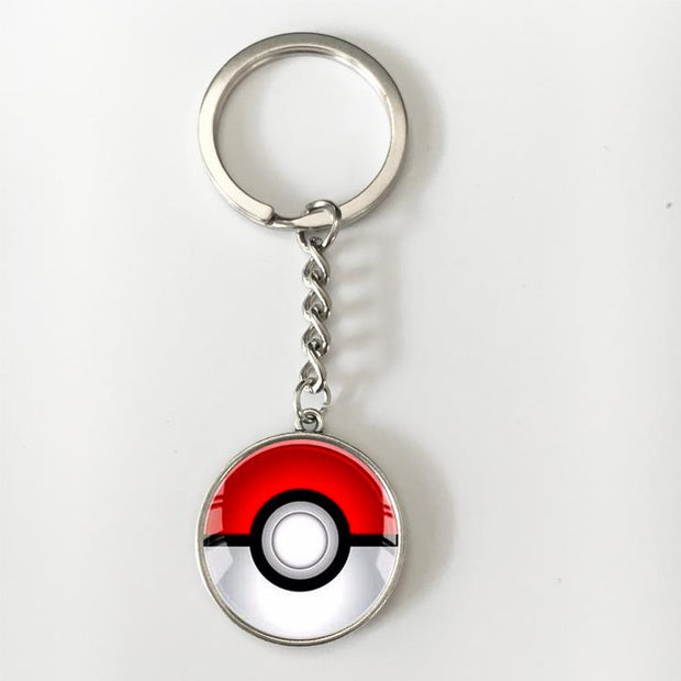 pokemon pokeball glass keychain