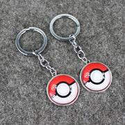pokemon pokeball glass keychains