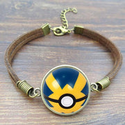pokemon quick ball leather bracelet