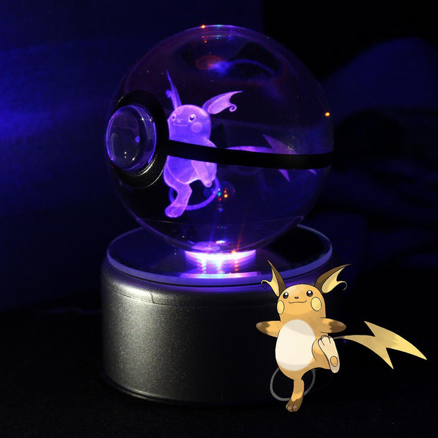 Raichu Pokemon Crystal Pokeball