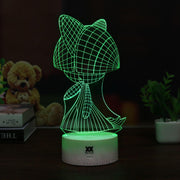 pokemon ralts led 3d night light of green color