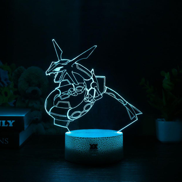pokemon rayquaza led 3d lamp of blue color