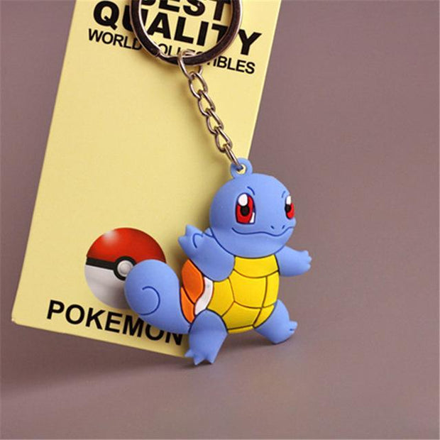 pokemon squirtle 3d keychain