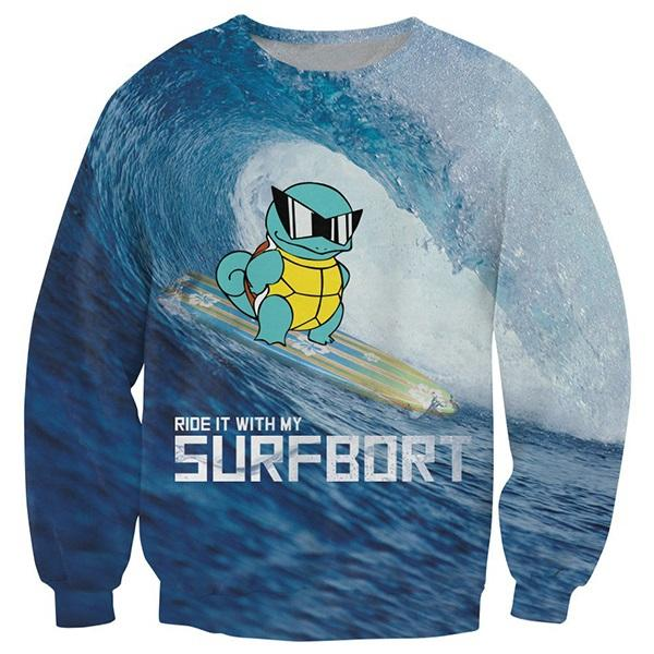 Squirtle Surf Top