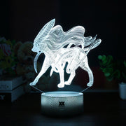 pokemon suicine led 3d night light of white color