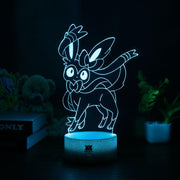 pokemon sylveon led 3d night light of blue color