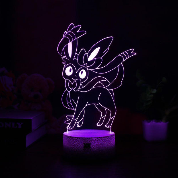 pokemon sylveon led 3d night light of purple color