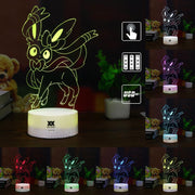 pokemon sylveon led 3d night light of many colors