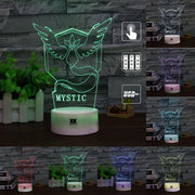 pokemon team mystic led 3d night light of many colors