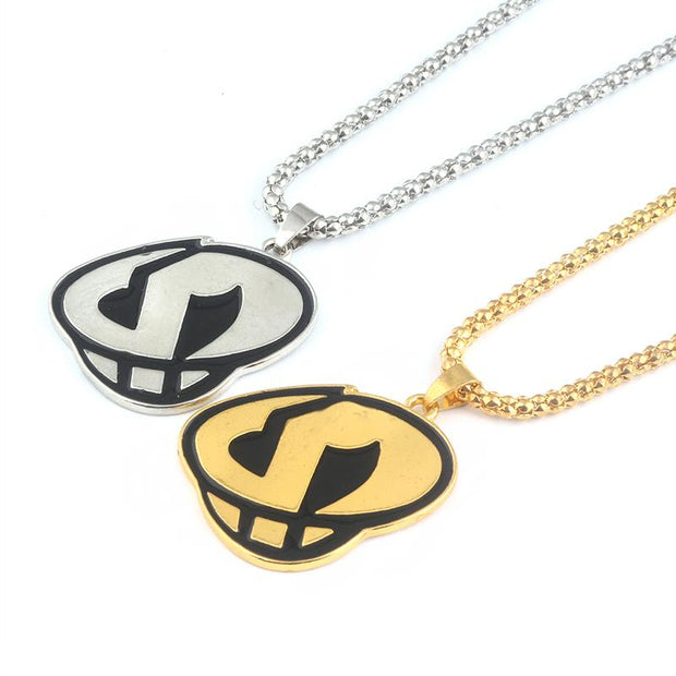 pokemon team skull gold and silver pendant necklaces