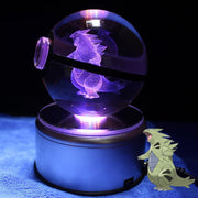 Tyranitar Pokemon Crystal PokeballWith LED Light Base