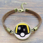 pokemon ultra ball leather bracelet