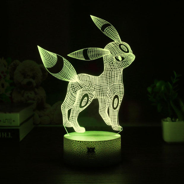 pokemon umbreon led 3d night light of yellow color