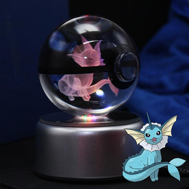 pokemon vaporeon crystal pokeball