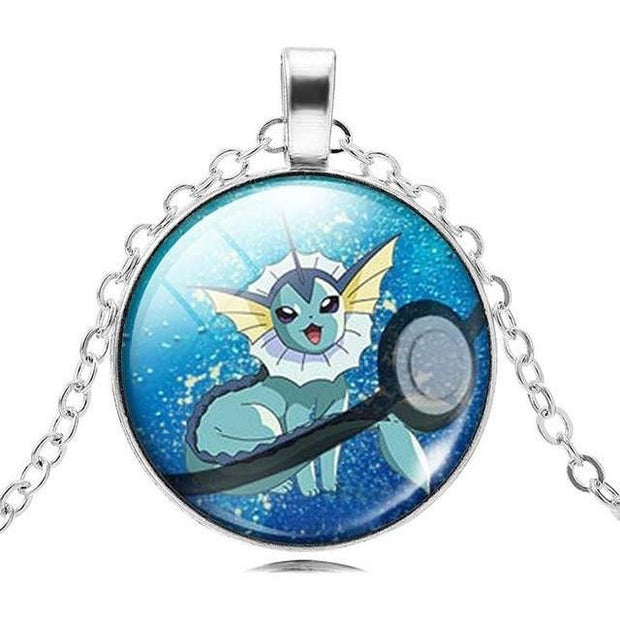 pokemon vaporeon glass pendant