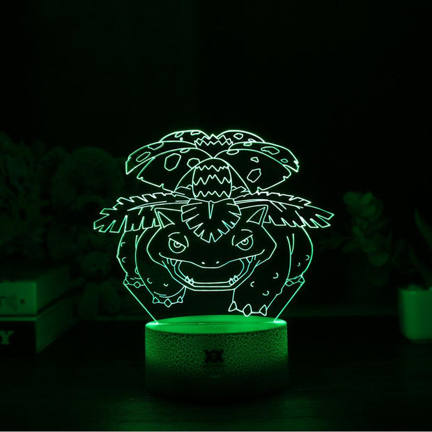 pokemon venusaur led 3d night light of green color