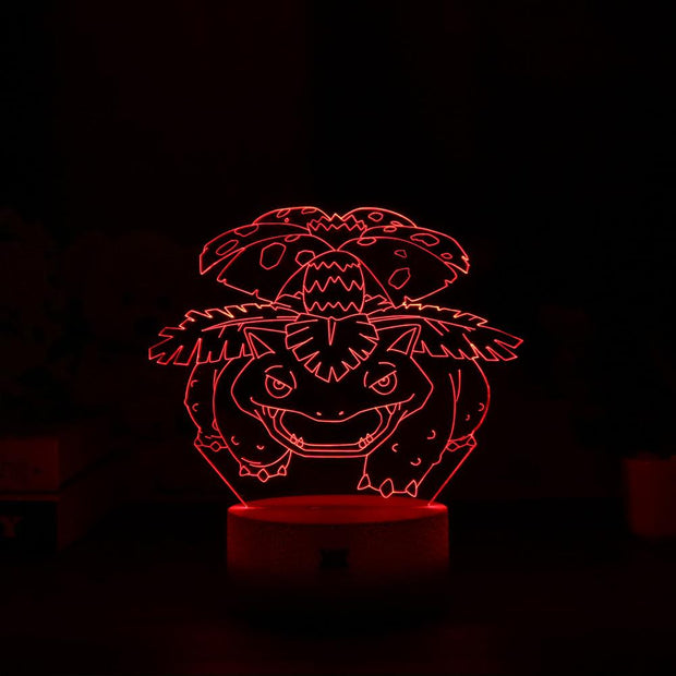 pokemon venusaur led 3d night light of red color