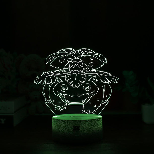 pokemon venusaur led 3d night light of yellow color