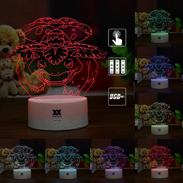 pokemon venusaur led 3d night light of many color