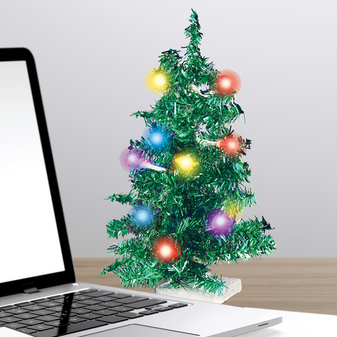 MOQ:12 Deck Your Desk: LED USB Mini Christmas Tree