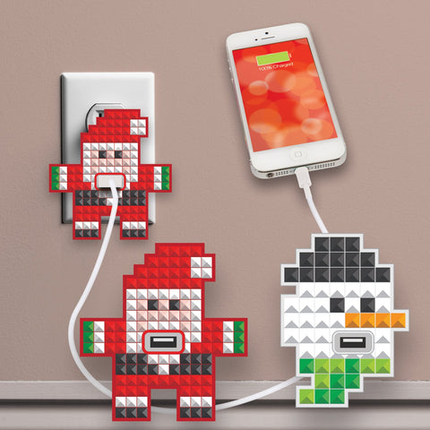 MOQ:12 Holiday USB Wall Plug Huggers
