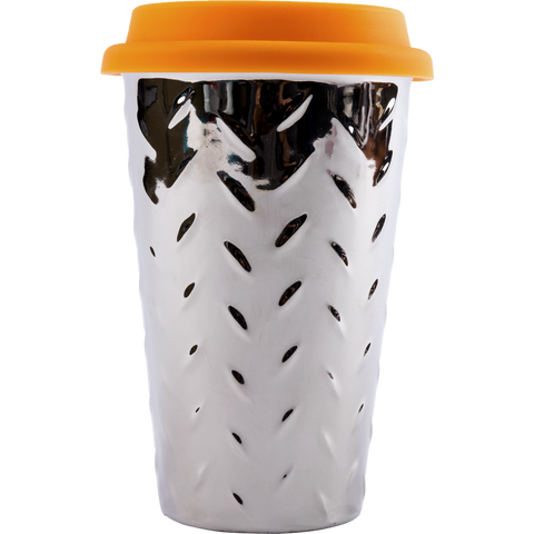 MOQ:12 IANAPC Diamond Plate Thermal Ceramic Mug