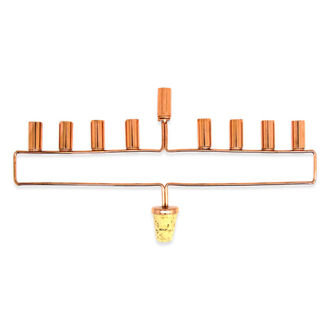 MOQ:8 Menorah Wine Bottle Cork - Copper