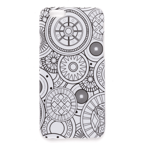 coloring iphone case geo spheres
