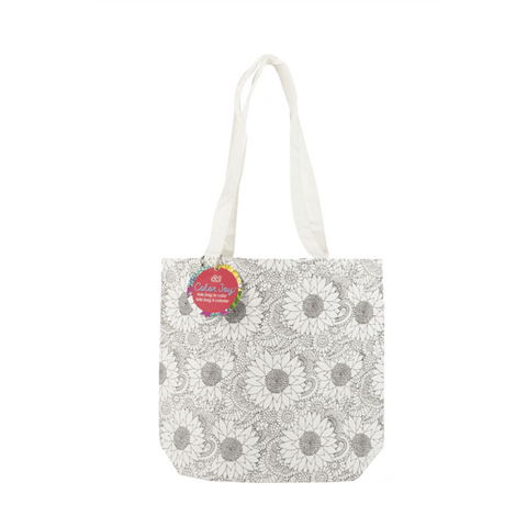 coloring canvas tote bag