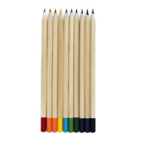 colored pencils in different colors