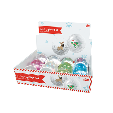 MOQ:24 ASSORTED HOLIDAY BOUNCY BALLS
