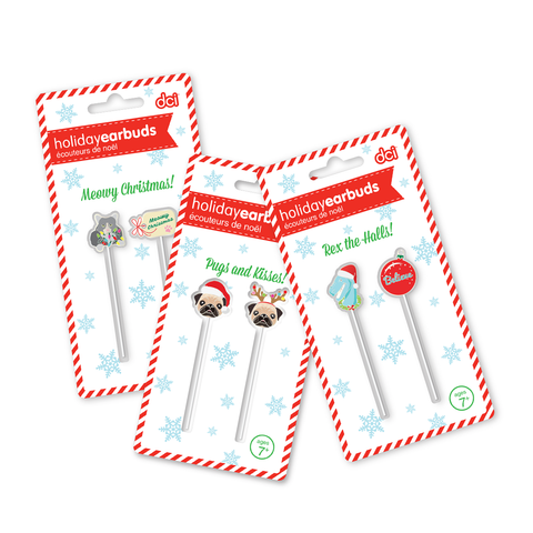MOQ:12 ASSORTED HOLIDAY EARBUDS