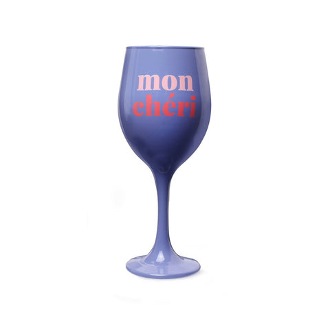 MOQ:6 Wine Glass: Mon Cheri