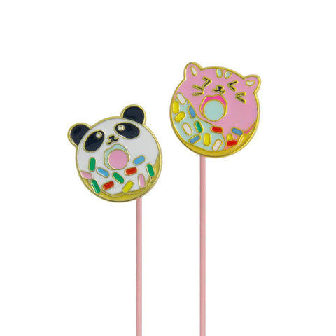 MOQ:12 Angled Earbuds: Panda Doughnimals