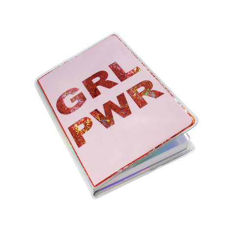 MOQ:12 Floating Glitter Journal: GRL PWR