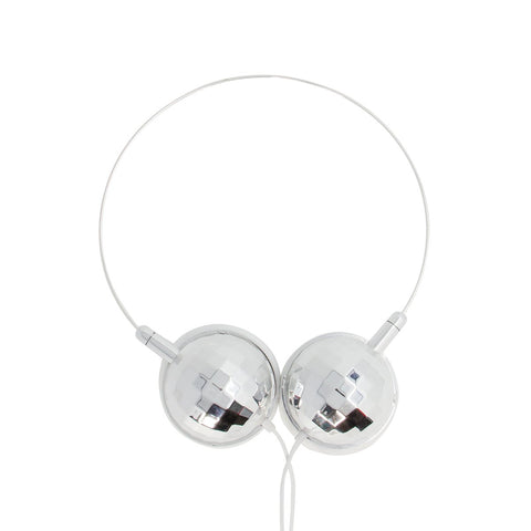 MOQ:12 Disco Headphones: Silver