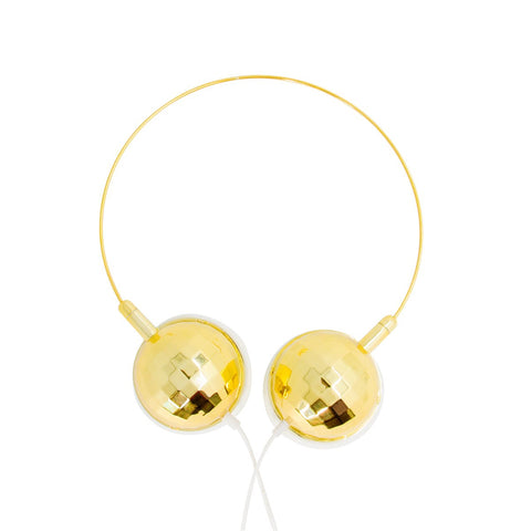 MOQ:12 Disco Headphones: Gold
