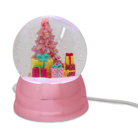 USB Snow Globe Pink Tree