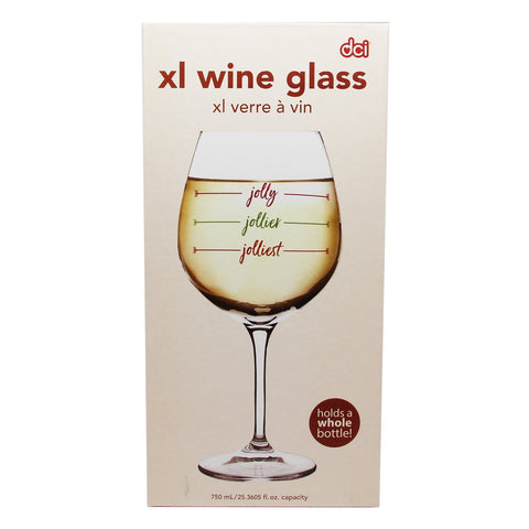 MOQ:6 Jolliest XL Wine-ism Glass