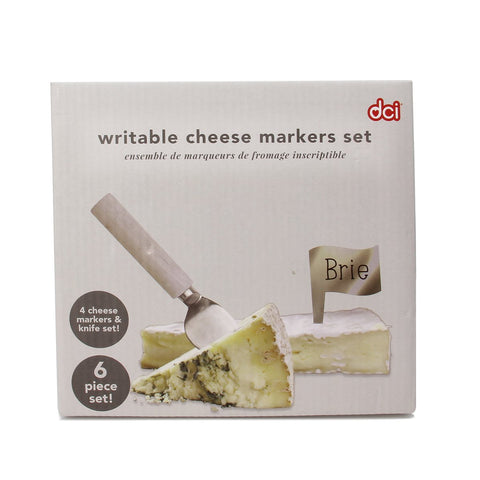 Cheese Marker & Knife Set: Silver