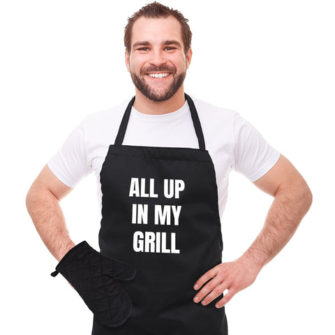 MOQ:6 In My Grill Apron Set