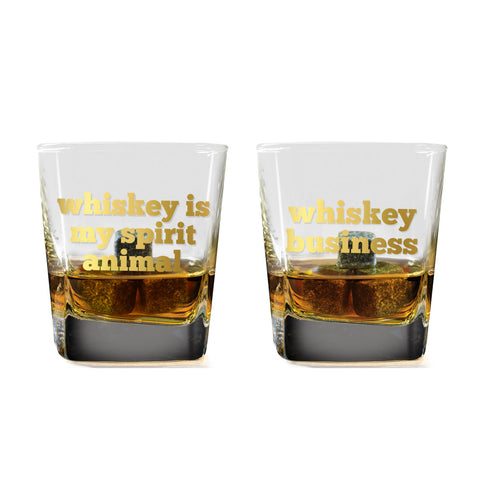 MOQ:6 Whiskey Business Whiskey Glass Set