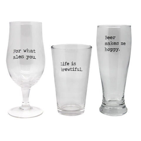 MOQ:6 Makes Me Hoppy Beer Glass Set