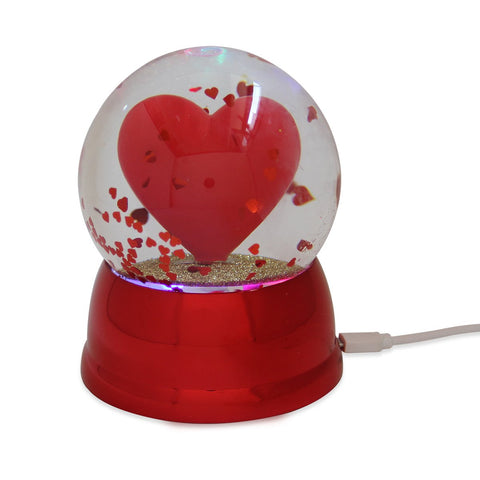 USB Snow Globe Heart