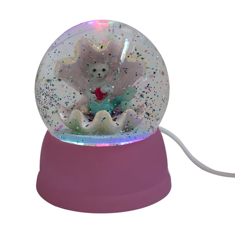 USB Snow Globe Mermaid Cat